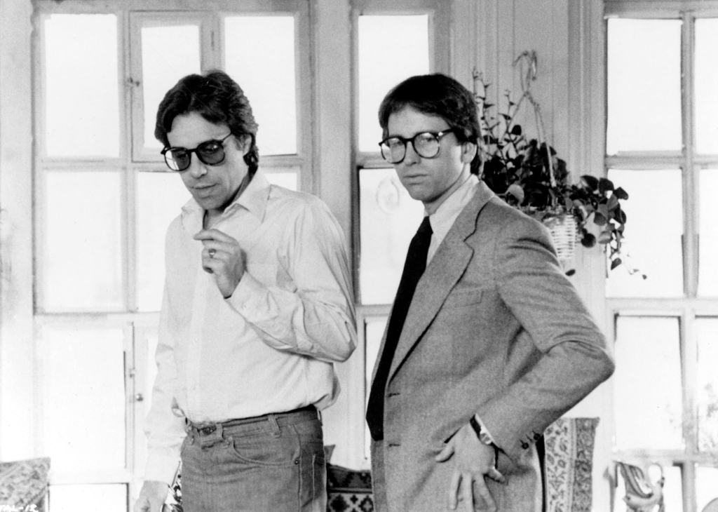 THEY ALL LAUGHED US1981 PETER BOGDANOVICH DIRECTOR AND JOHN RITTER Date 1981, , Photo by: Mary Evans/Ronald Grant/Everett Collection(10343900)