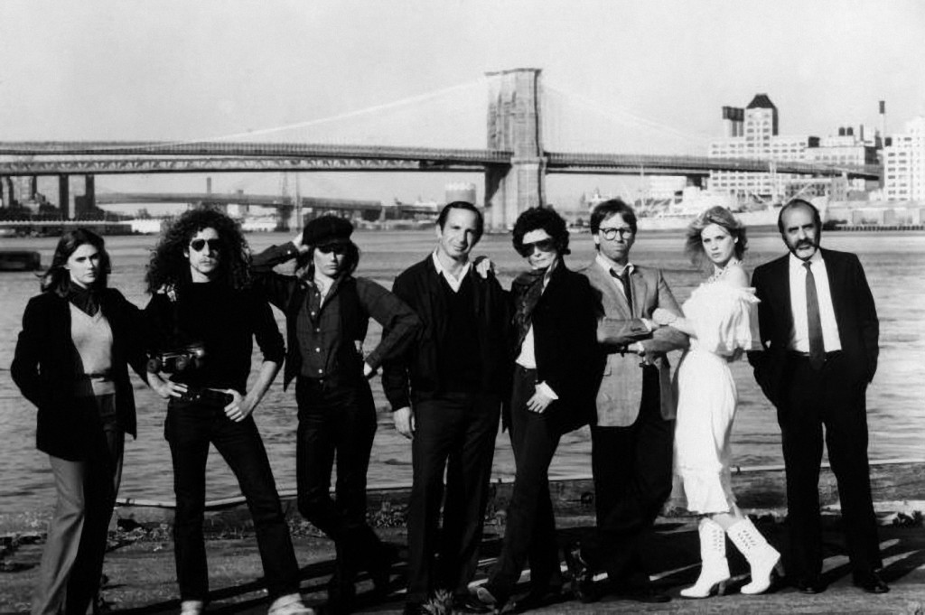 THEY ALL LAUGHED, Colleen Camp, Blaine Novak, Patti Hansen, Ben Gazzara, Audrey Hepburn, John Ritter, Dorothy Stratten, George Morfogen, 1981.